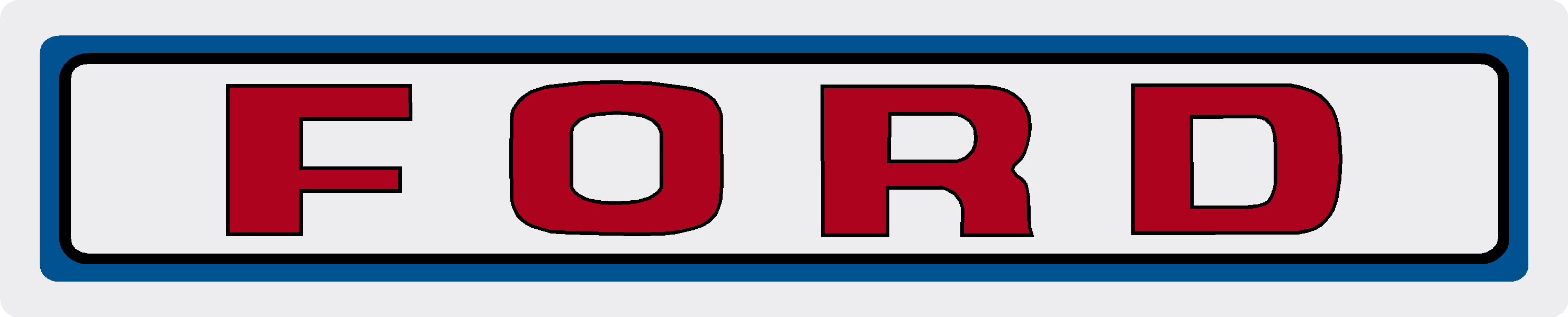 FORD 4000 TRACTOR DUAL POWER DASH DECAL
