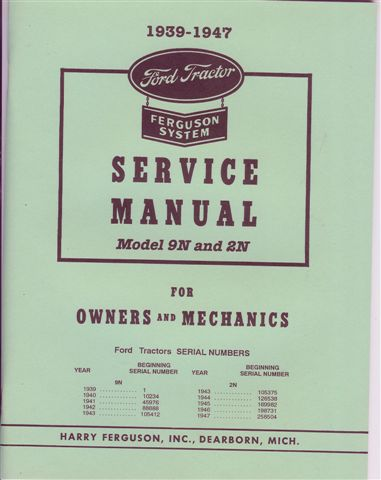 8n ford tractor manual free pdf