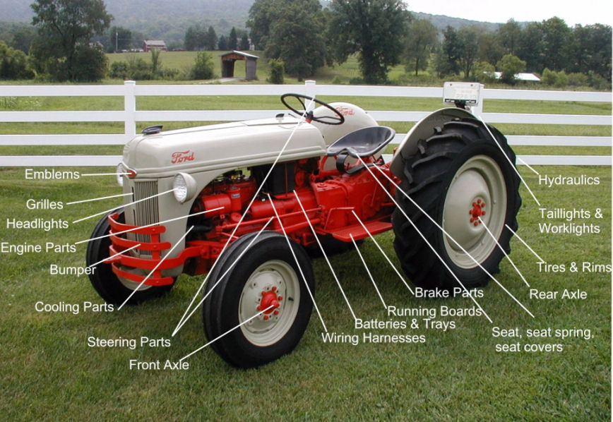 Names Of Parts Of Farm Tractors : George bradish tractor parts